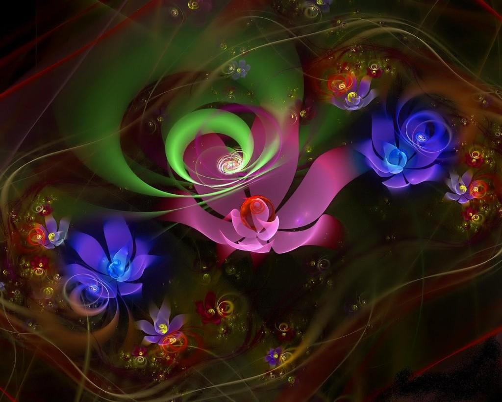 Картинки светящиеся цветы 6